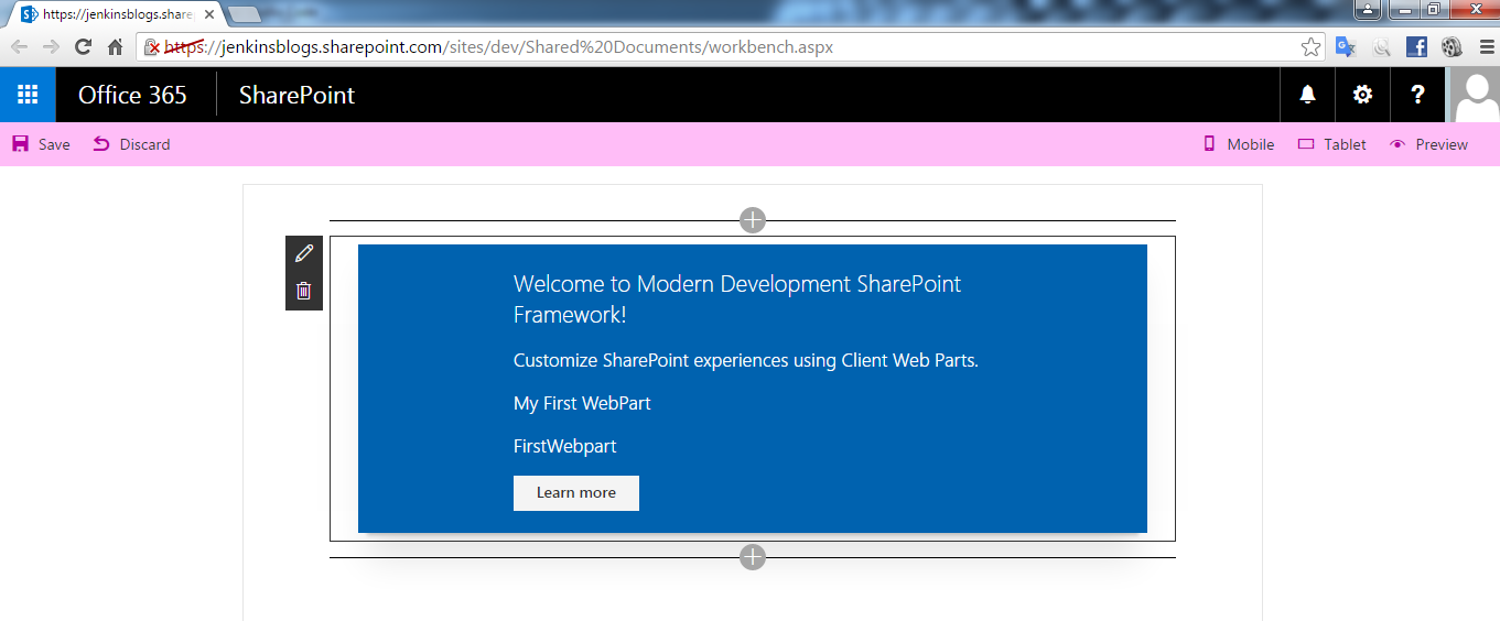 Create a SharePoint Framework Client WebPart – Retrieve List Items