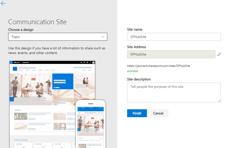 Step by Step Create and Associate SharePoint Hub Sites