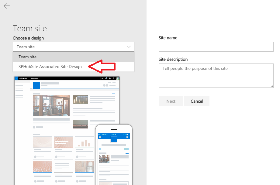Associate site automatically to a SharePoint Hub site