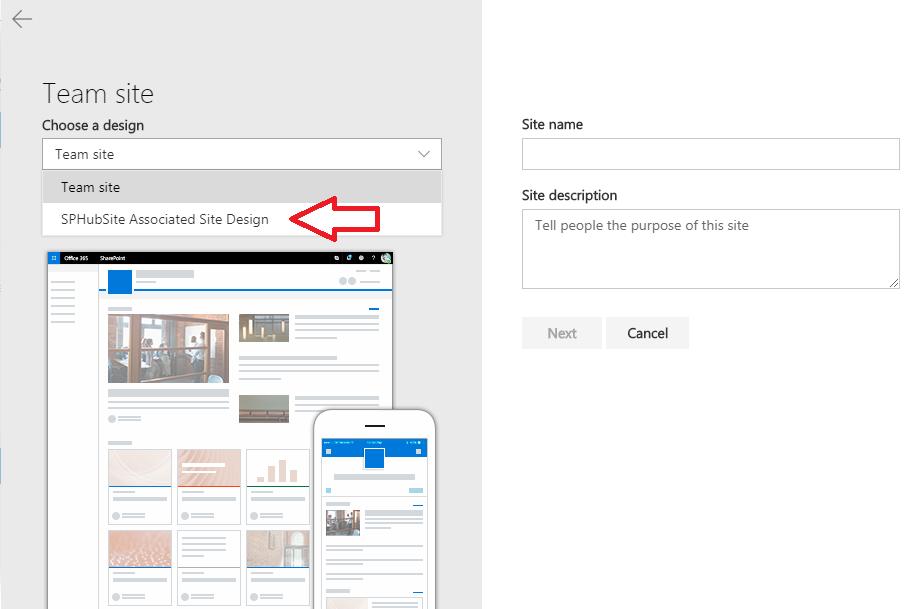 Associate site automatically to a SharePoint Hub site