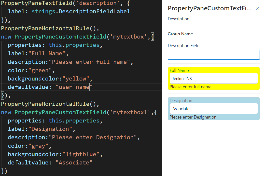 How to build a simple custom Property Pane using Typescript for SPFx