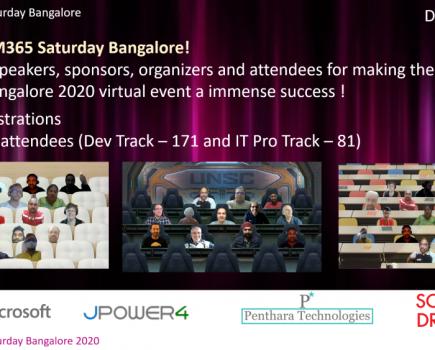 Microsoft 365 Saturday Bangalore 2020 – 12 Dec 2020